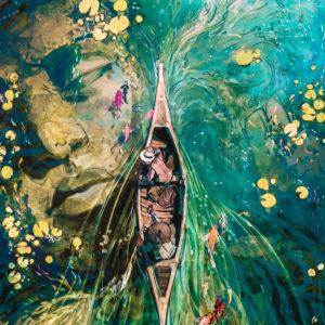 Buddha a víz alatt – Online festés