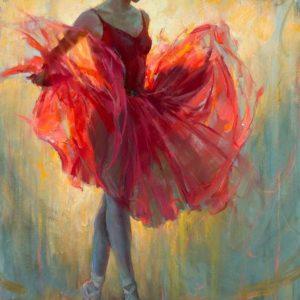Piros ruhás balerina – Haladóknak