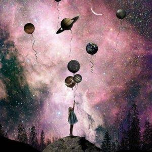 Galaxis alatt – Világító festés