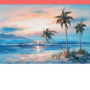 Pálmafás tengerpart – Online festés