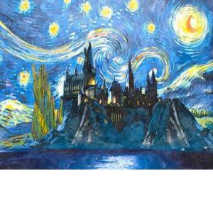 Van Gogh stílusban Roxfort – Online festés