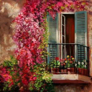 Virágos erkély