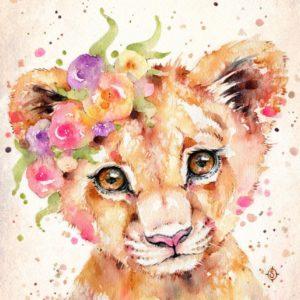 Cuki oroszlánkölyök