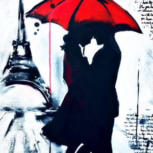 Esős Párizs szerelmesen – Online festés