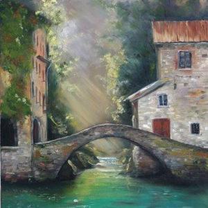 Híd a folyó felett – Online festés