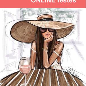 Nő a kalapban – Online festés