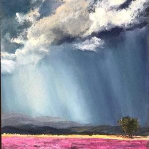 Zivatar a virágföld felett – Online festés