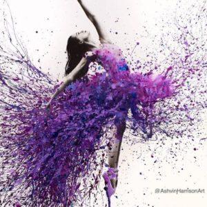 Lila fröcskölős balerina – Haladóknak