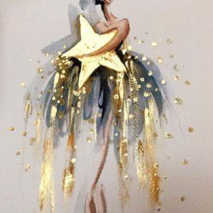 Csillagot ölelve arany festékkel – Kezdőknek