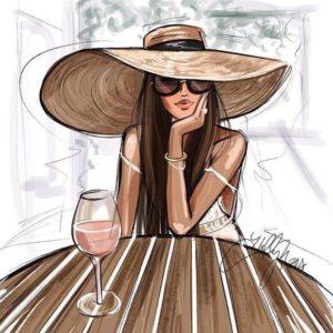 Nő a kalapban borral – Középhaladóknak