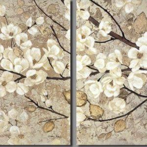 Cseresznyevirágok – Páros festés – Kezdőknek