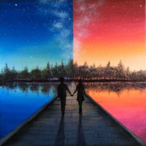 Te és én az ég alatt Páros festés – Kezdőknek