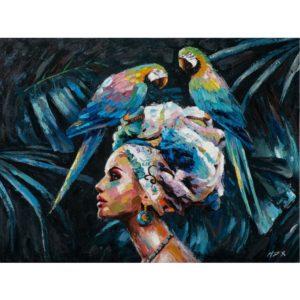 Nő a papagájokkal – Haladóknak