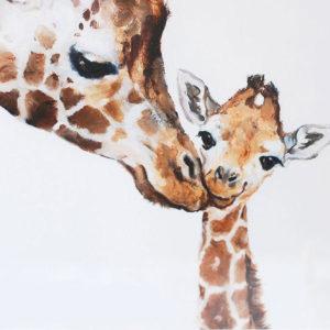 Zsiráf anyuka gyermekével – Középhaladóknak