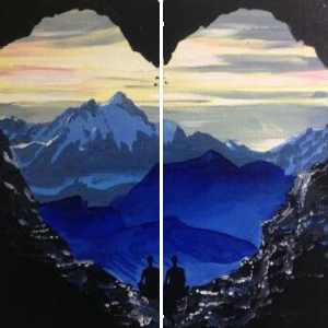 Csodás kilátás – Páros festés – Kezdőknek