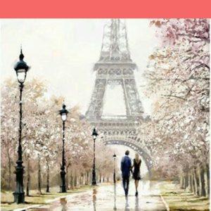 Romantika Párizsban – ONLINE festés