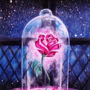 Szépség és a Szörnyeteg rózsa – ONLINE festés