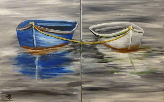 Ismeretlen festő: Páros hajó