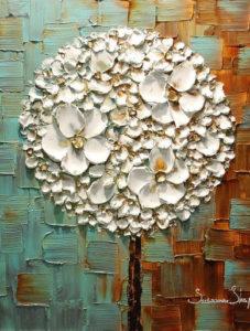 Ismeretlen festő: 3D virágok struktúrpasztával!
