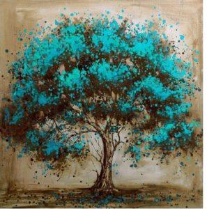 Ismeretlen festő: Kék fa