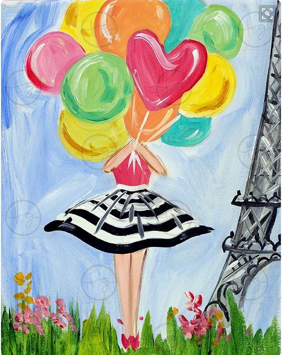 Ismeretlen festő: Lány lufikkal
