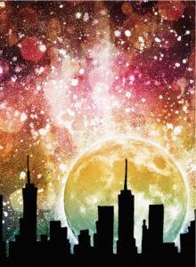 Csillagos éjszaka a nagyváros felett