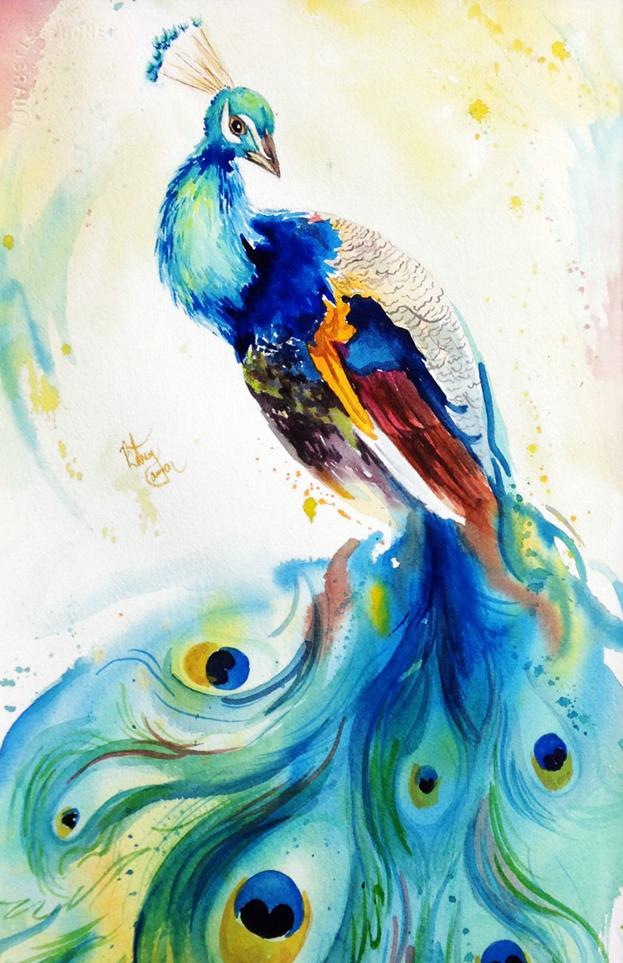 Bethany Cannon Art - Gyönyörű páva