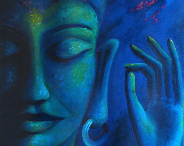Ismeretlen festő - Kék Buddha