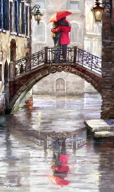 Richard Macneil - Venice canal bridge