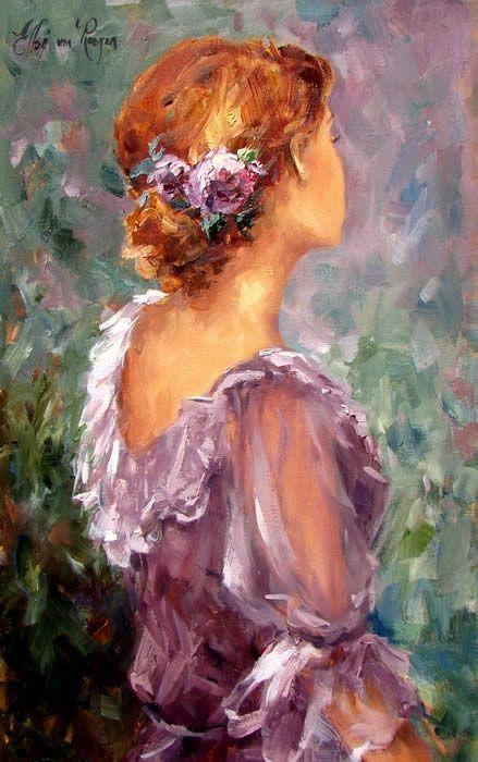 Ismeretlen festő - Merengő hölgy