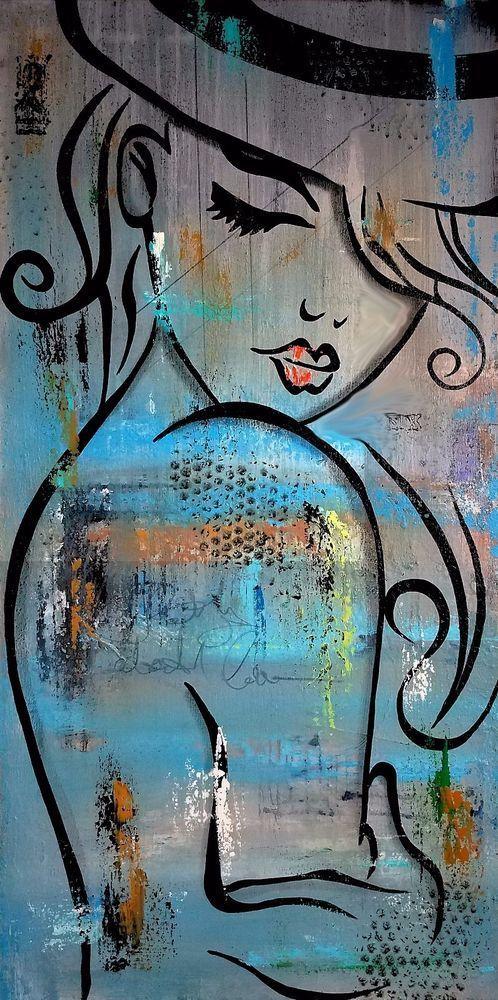 Ismeretlen festő - Nő a kalapban