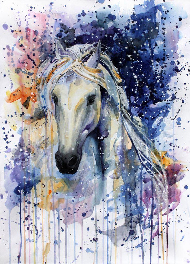 Fröcskölős, folyatós, színes ló