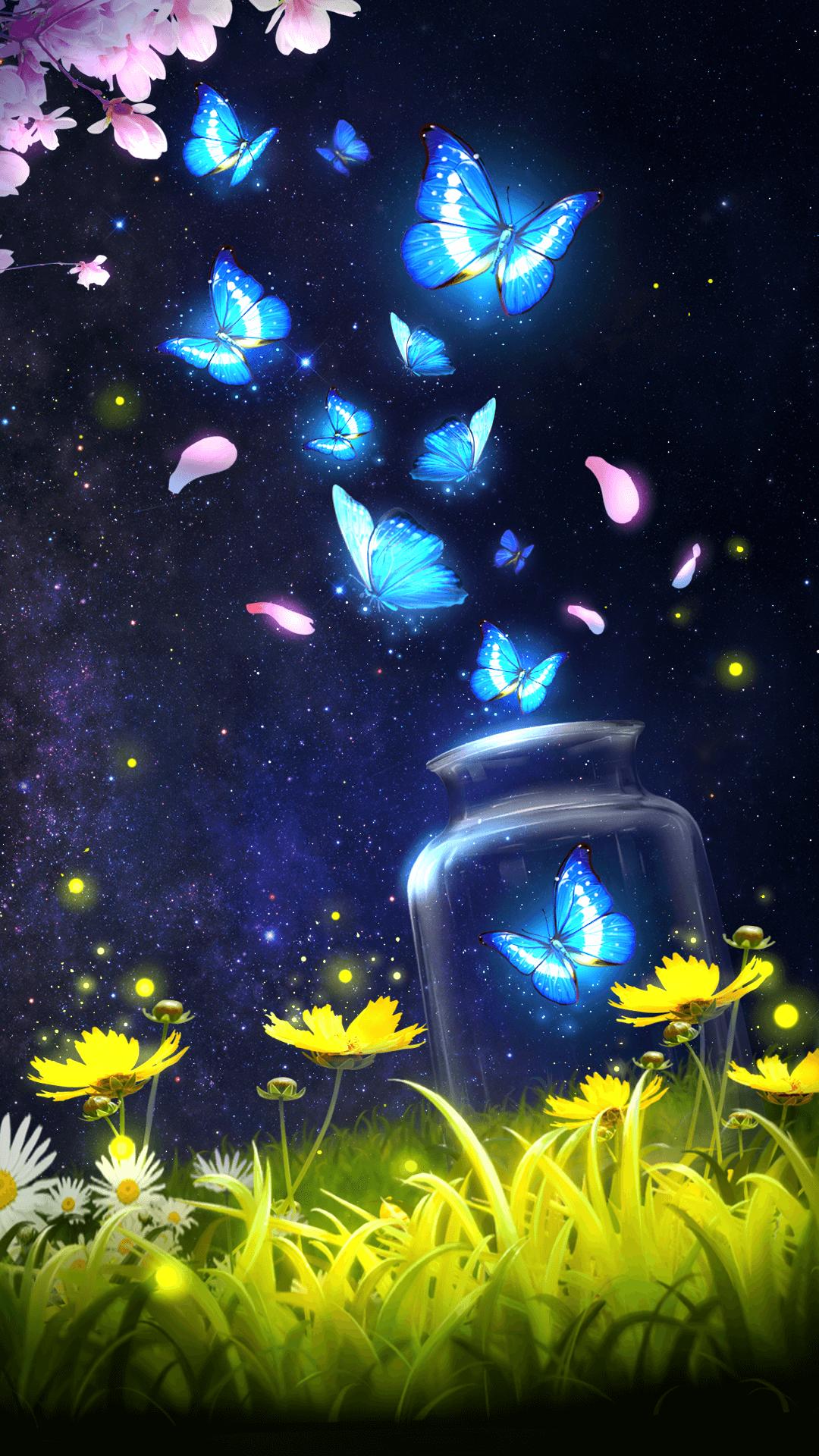 Éjben világító pillangók - Világítós festékkel!
