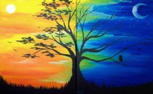 Nappal, éjszaka - Páros festés