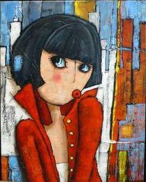 Virginie Matz - Piros kabátos grácia