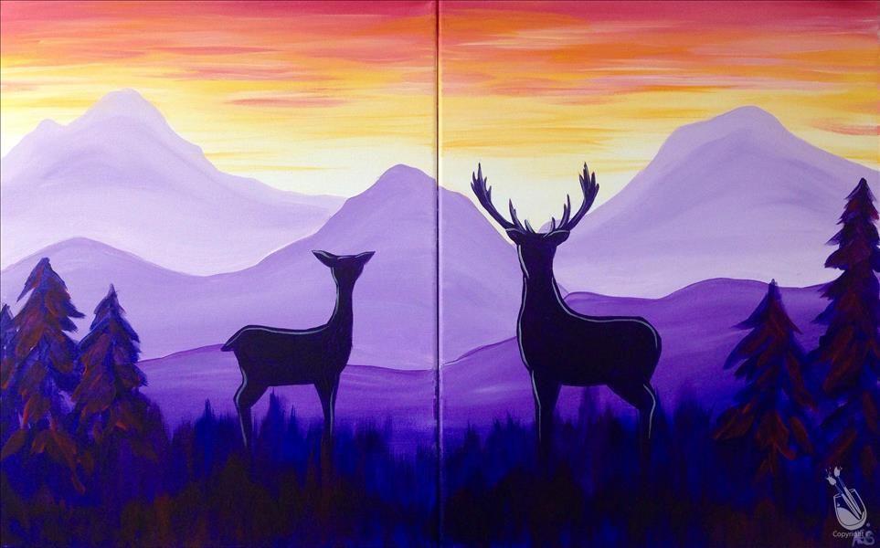 Páros festés - Szarvasok