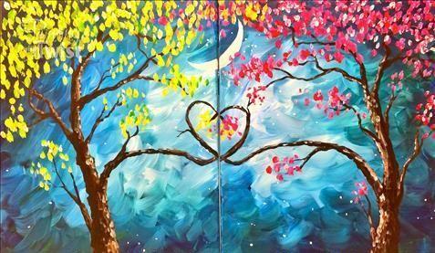 Páros festés - Színes fa
