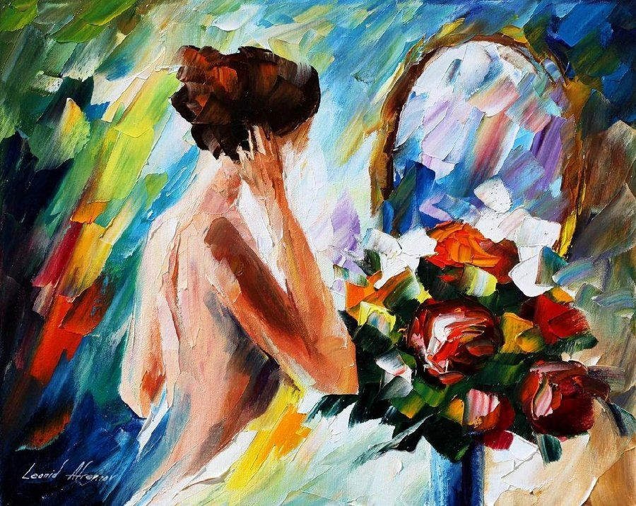 Leonid Afremov - Nő a tükörbe nézve