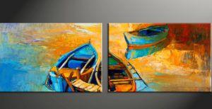 Színes csónakok - Páros festés