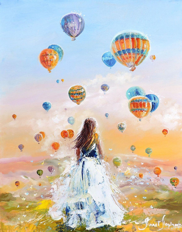 Lány a hőlégballonokkal