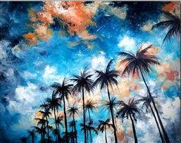 Pálmafák az égbolton