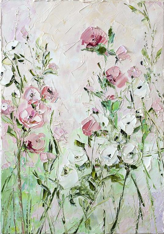3D rózsaszín virágok