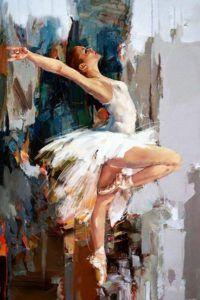 Fehér ruhás balerína