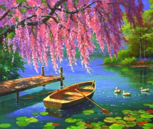 Romantikus csónakázás