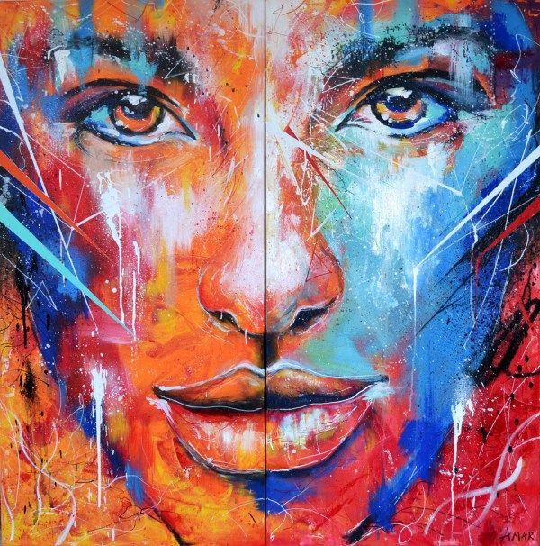 Színes portré - Páros festés