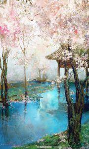 Virágzó cseresznyefák