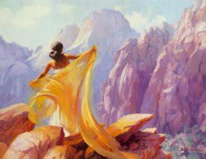 Steve Henderson - Sárga kendős nő