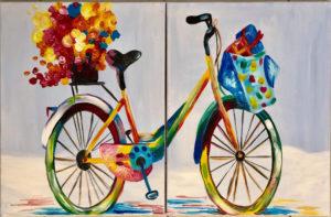 Színes bicikli - Páros festés
