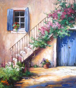 Ute Hermann - Virágos lépcső