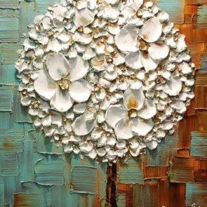 3D virágok struktúrpasztával – Stúdiós festés